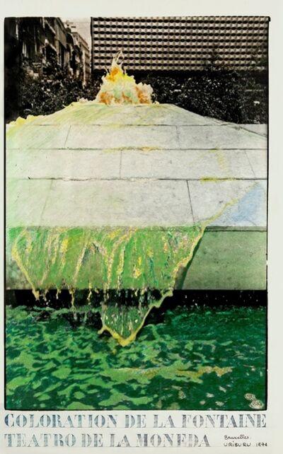 Nicolás García Uriburu, 'Coloration Bruxelles', 1974
