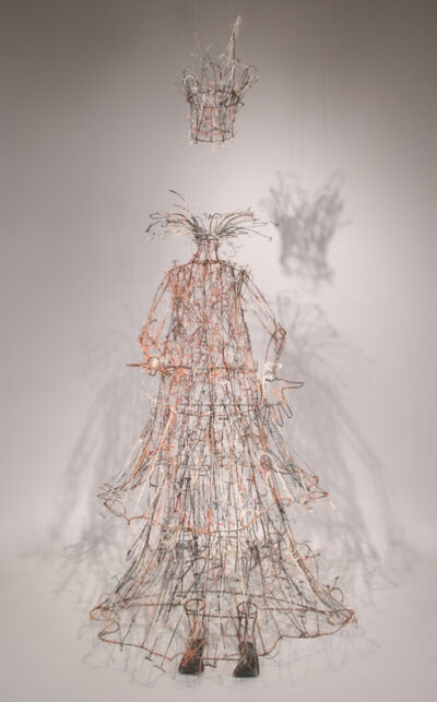 Lesley Dill, 'Word Queen of Itchy Water With Suspended Crown', 2007