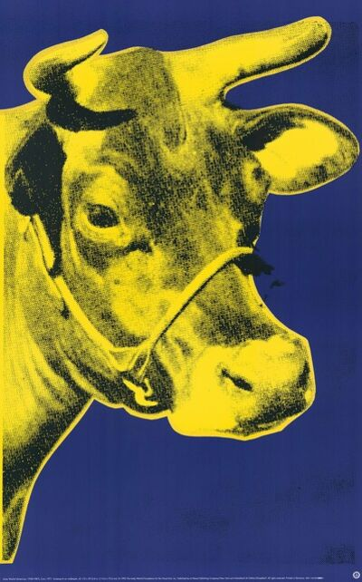 Andy Warhol, 'Cow (yellow) (Pop Art)', 1985-1989
