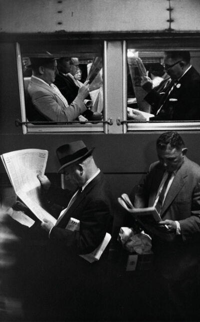 Louis Stettner, 'Commuters, Evening Train', 1958