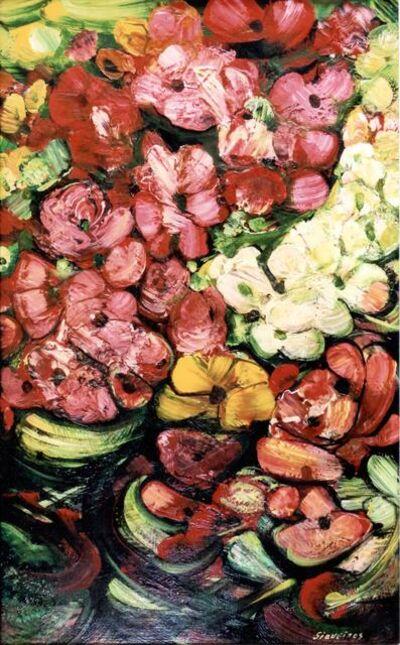 David Alfaro Siqueiros, 'Flores', 1962