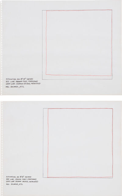 "Mel Bochner, 'Untitled (Estimating an 8"" x 8"" Square)', 1972"