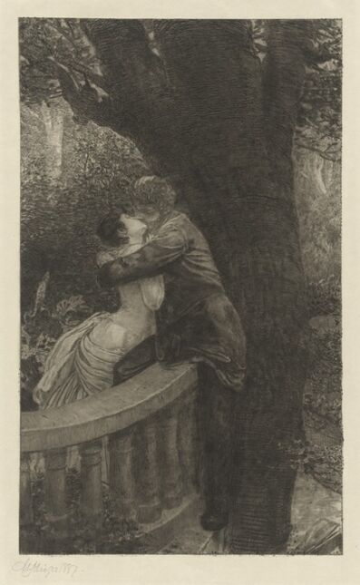 Max Klinger, 'In the Park (Im Park): pl.4', 1878