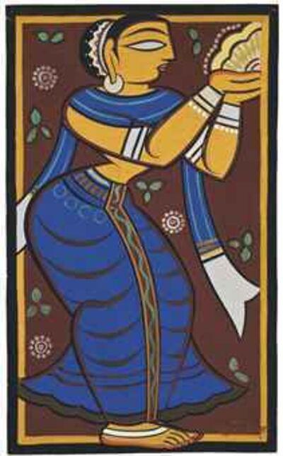 Jamini Roy, 'Untitled (Worshipper)', ca. 1947