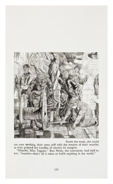 Yevgeniy Fiks, 'Ayn Rand in Illustrations (Atlas Shrugged, page 134)', 2010