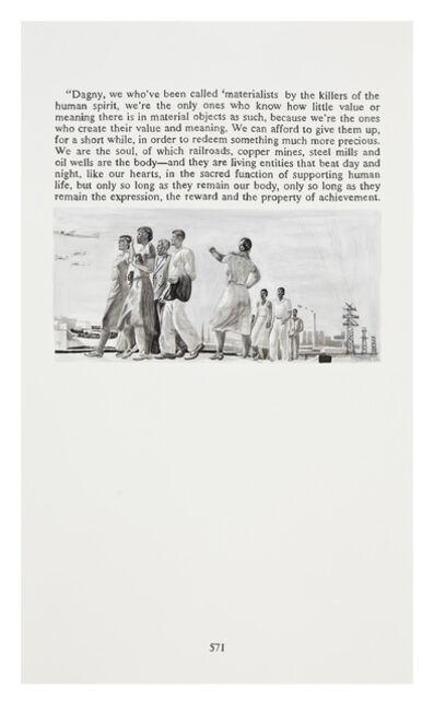 Yevgeniy Fiks, 'Ayn Rand in Illustrations (Atlas Shrugged, page 571)', 2010