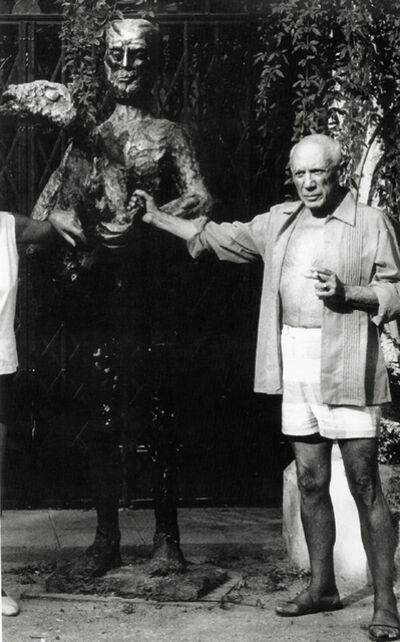 Lucien Clergue, 'Picasso and the Man with a Lamb, Mougins', 1965