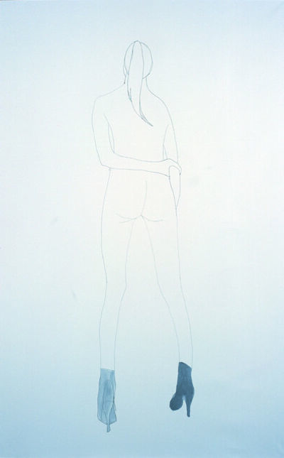 Vanessa Beecroft, 'Untitled (Silver Boots)', Date Unknown