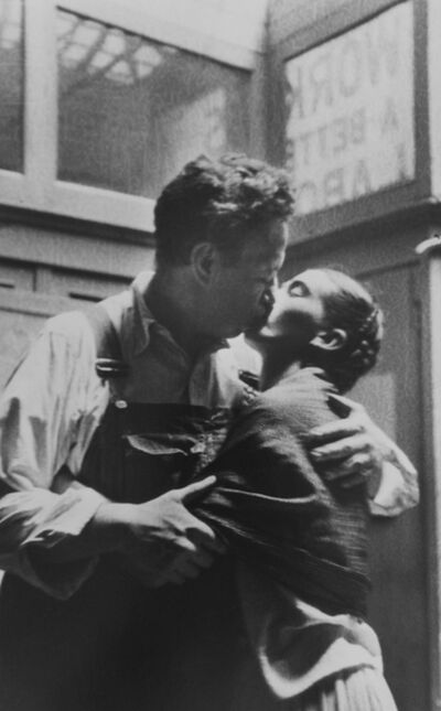 Lucienne Bloch, 'Frida and Diego Caught Kissing', 1933