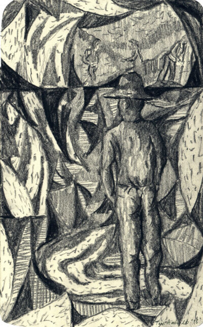 Tom Anholt, 'Man Mining (Study)', 2018
