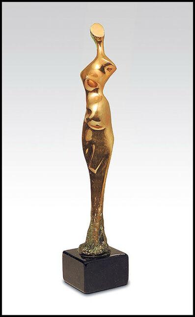 Kieff, 'Antonio Grediaga Kieff Original Bronze Sculpture Signed Female Figurative Art', 20th Century