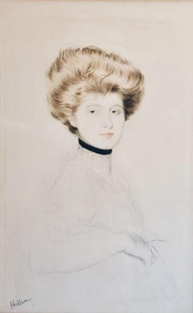 Paul César Helleu, 'Femme avec un col de velours', ca. 1900