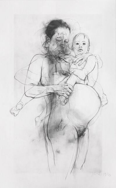 Jenny Saville, 'Reproduction drawing II (after the Leonardo cartoon)', 2009-2010