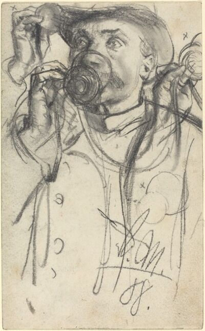 Adolph Menzel, 'Studies of a Man Drinking', 1888