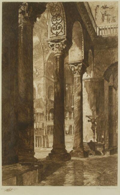 Otto Henry Bacher, 'San Marco Nave, Venice', ca. 1890