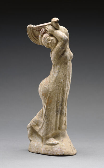 'Statuette of a Dancer Playing the Lyre',  2nd century B.C.