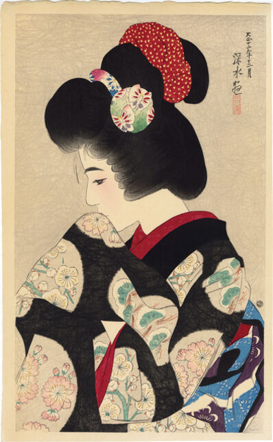 Itō Shinsui, 'Contemplating the Coming Spring', 1923