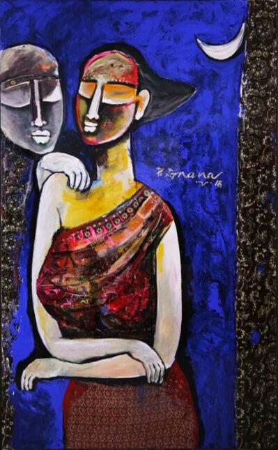 P Gnana, 'Under the Moonlight', 2016