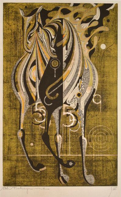 Nakayama Tadashi, 'Two Horses in the Wind (B)', 1968