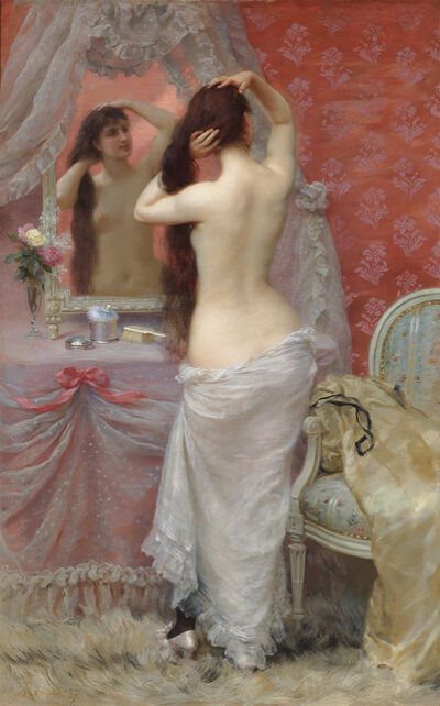 Jean André Rixens, 'Jeune Femme Nue se Coiffant (Young Nude Styling her Hair)', 1887