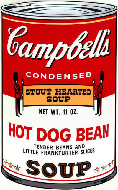 Andy Warhol, 'Campbell's Hot Dog Bean Soup', 1968