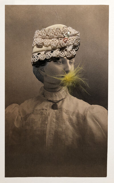 Gary Brotmeyer, 'Woman in a Lace Hat Eating a Canary #6', 2006