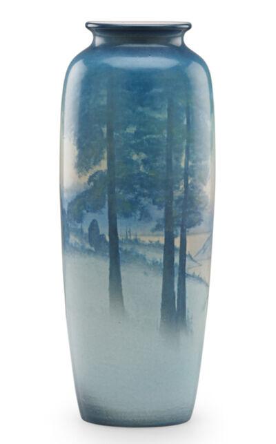 Sallie Coyne, 'Winter Scenic Vellum vase (uncrazed), Cincinnati, OH', 1924