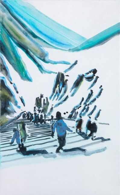 John Kørner, 'Group Passing a Mountain', 2020