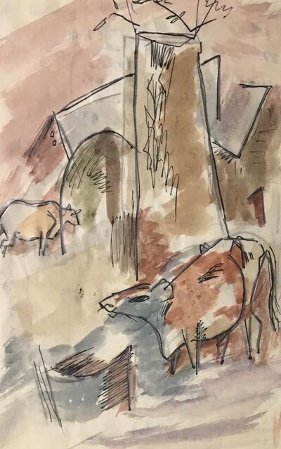 Karl Knaths, 'Cows', Early 20th century