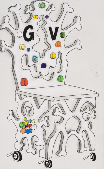 Trenton Doyle Hancock, 'Bone Throne', 2006