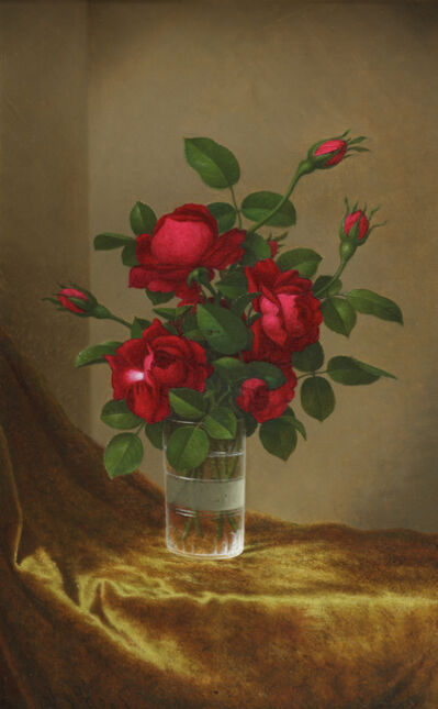 Martin Johnson Heade, 'Cluster of Roses in a Glass', 1885-1895