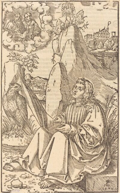 Lucas Cranach the Younger, 'Saint John in a Landscape', 1540