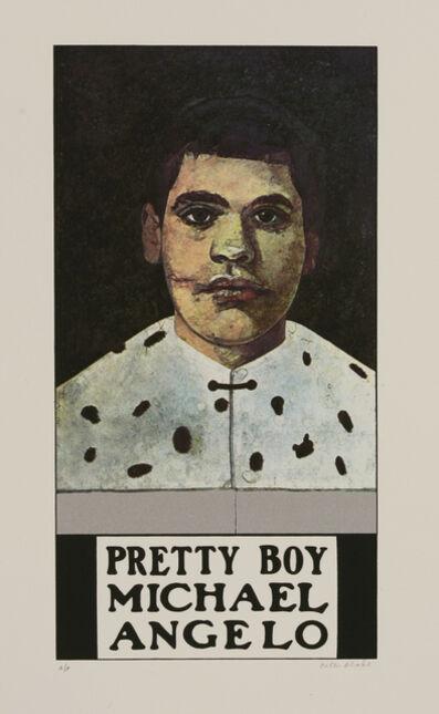 Peter Blake, 'Pretty Boy Michael Angelo', 1972