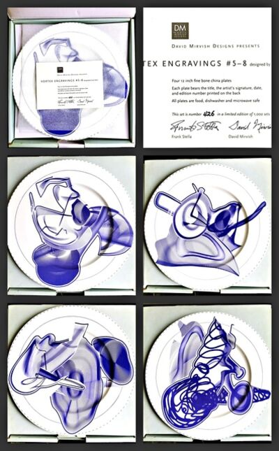 Frank Stella, 'Vortex Engravings #5 - 8: Gift Box of Four Limited Edition Plates, Signed and Numbered with Certificate of Authenticity - hand signed by Frank Stella', 2000