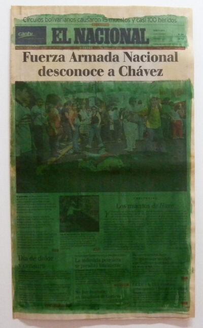 Marco Montiel-Soto, 'Serie La verdad no es noticia (Fuerza Armada Nacional desconoce a Chávez)', 2016