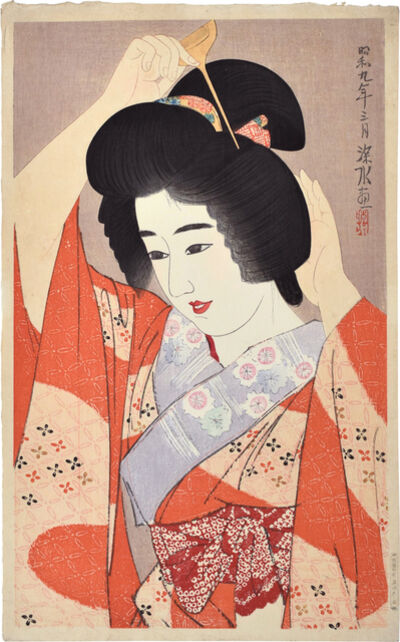 Itō Shinsui, 'The Second Collection of Modern Beauties: Hair', 1934