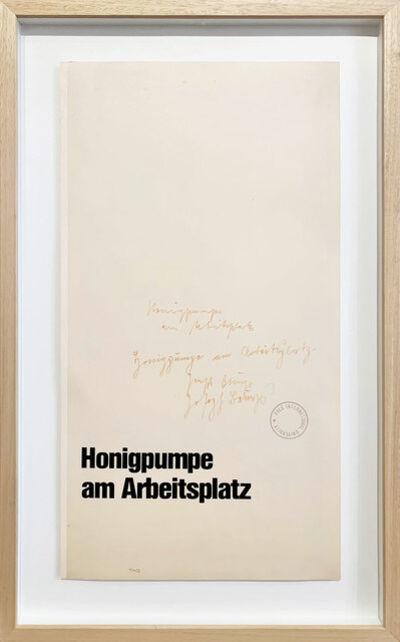 Joseph Beuys, 'Honigpumpe am Arbeitsplatz', 1977