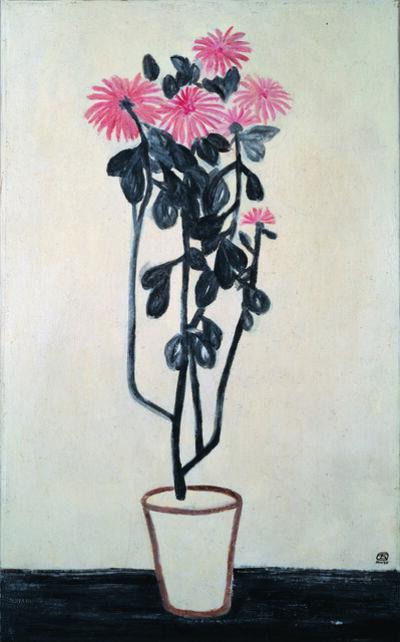 Sanyu, 'Pink Chrysanthemums', 1930