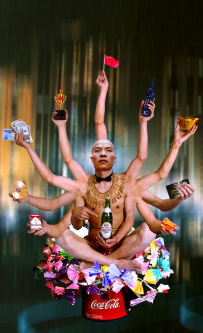 Wang Qingsong, 'Requesting Buddha Series No. 1', 1999