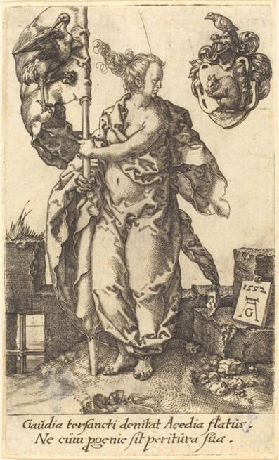 Heinrich Aldegrever, 'Diligence', 1552