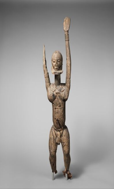 Unknown Dogon, 'Male Figure with Raised Arms', 14th–17th century