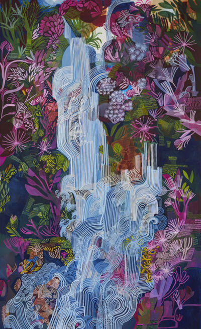 Ashley Amery, 'Waterfall with Pink Flowers', 2020