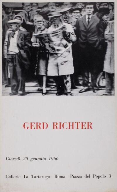 Gerhard Richter, 'Gerd Richter', 1966
