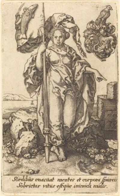 Heinrich Aldegrever, 'Temperance', 1552