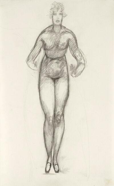 Alfons Walde, 'Standing Nude with Curls', ca. 1920