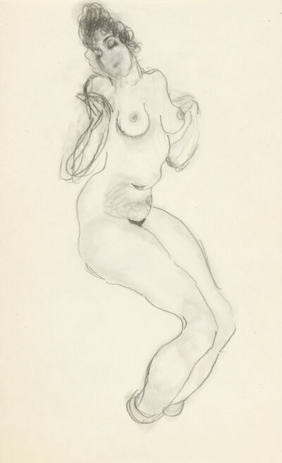 Alfons Walde, 'Nude, double-sided', ca. 1919