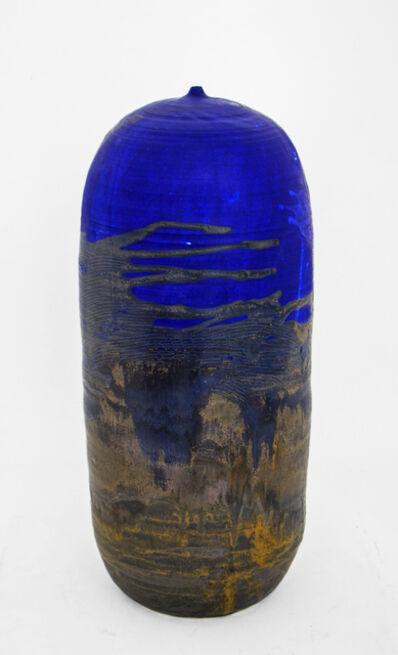 Toshiko Takaezu, 'Form Blue #31', 1990