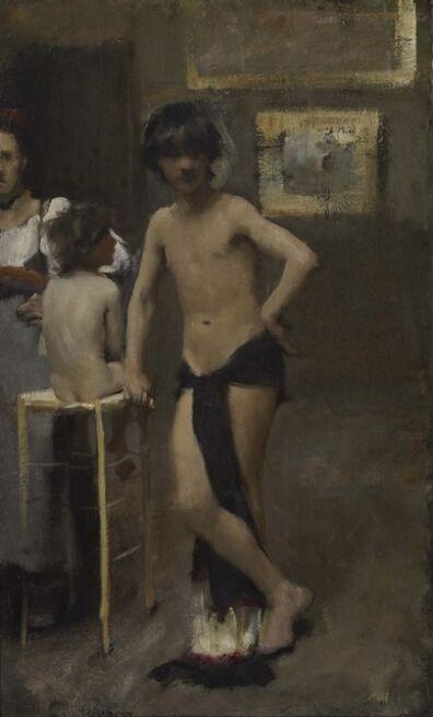 John Singer Sargent, 'Study of Three Figures', ca. 1878-1879