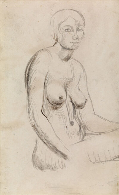 Henry Moore, 'Seated Nude', ca. 1924