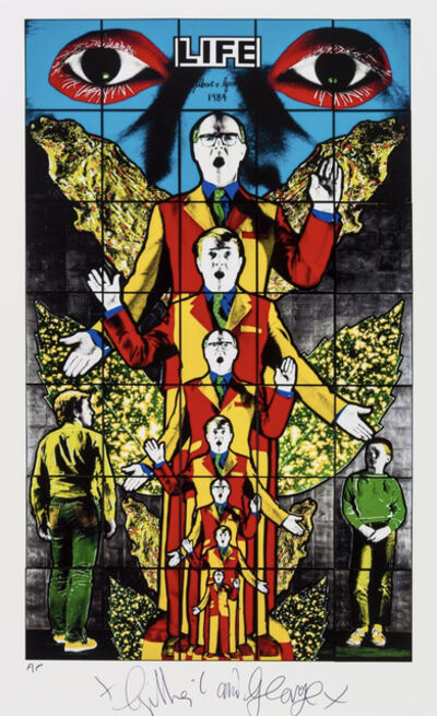 Gilbert and George, 'Death, Hope, Life, Fear', 2010